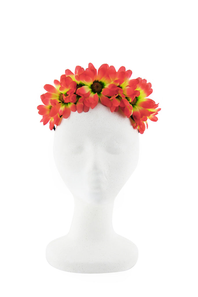 SUNRISE SUNFLOWER CHILD HEADBAND - Fuchsia/Yellow