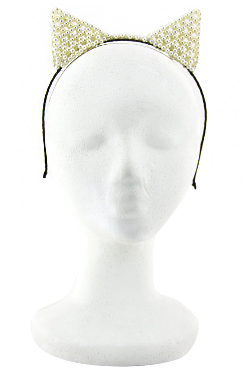 PEARL CAT EARS HEADBAND - Haute & Rebellious