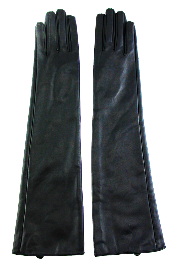 VEGAN LEATHER GLOVE - Black