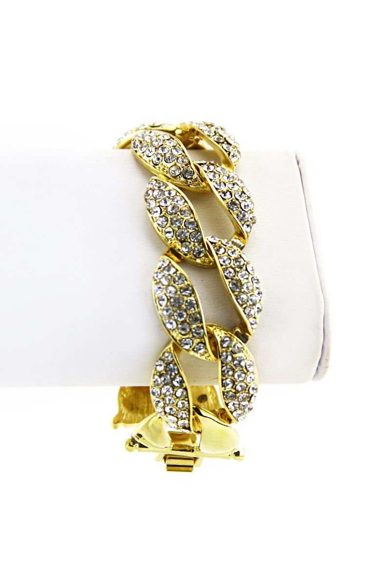 ELAN CRYSTAL LEAF BRACELET - Gold - Haute & Rebellious