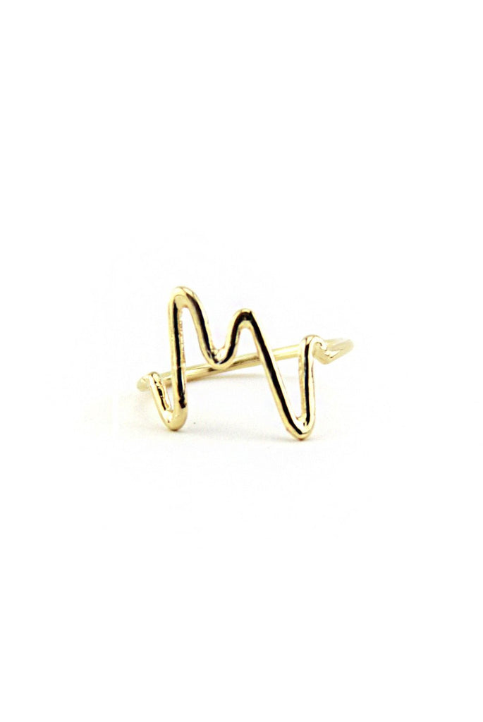 DUAL PETITE STATIC PULSE RINGS - Gold
