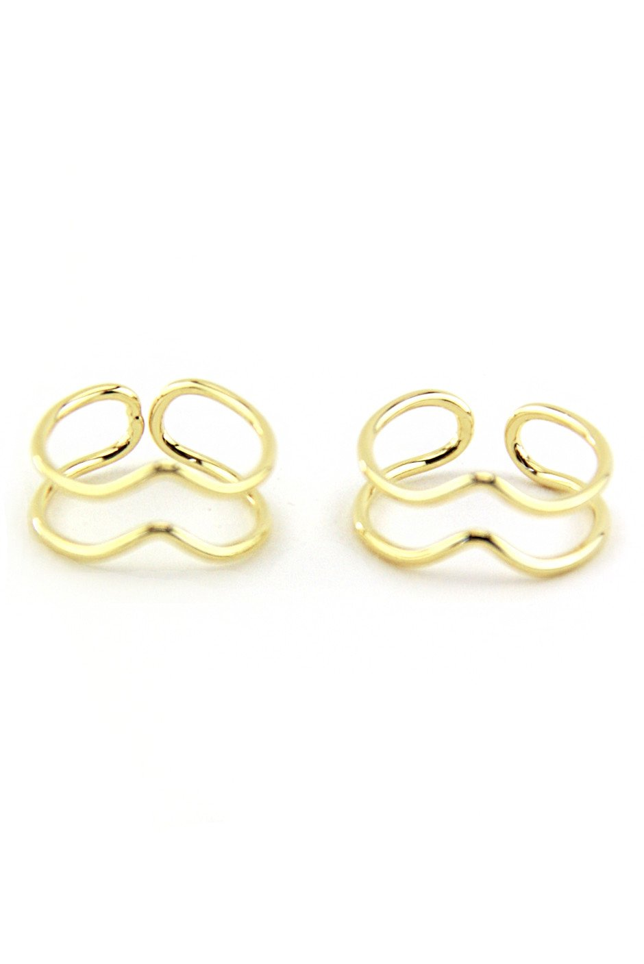 DUAL PETITE CUTOUT RINGS - Gold - Haute & Rebellious
