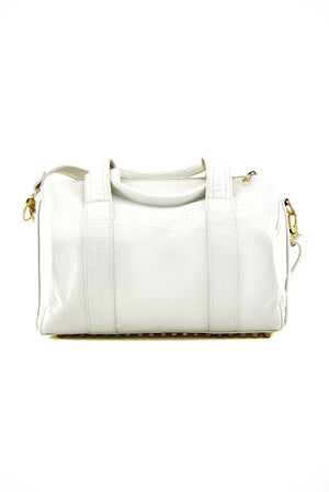 ERICSON GOLD STUDDED BAG - White - Haute & Rebellious