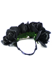 Midnight Queen Flower Child Headband - Black