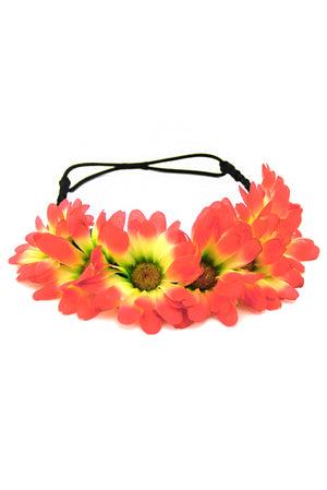 SUNRISE SUNFLOWER CHILD HEADBAND - Fuchsia/Yellow - Haute & Rebellious
