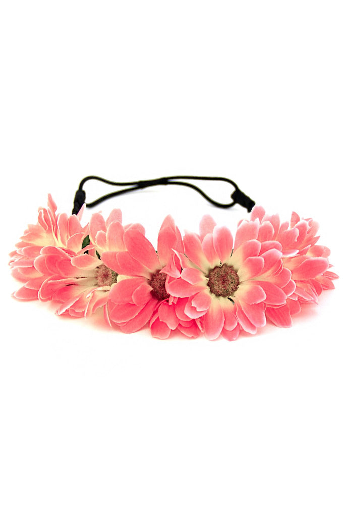 MYSTICAL SUNFLOWER CHLID HEADBAND - Pink/Yellow