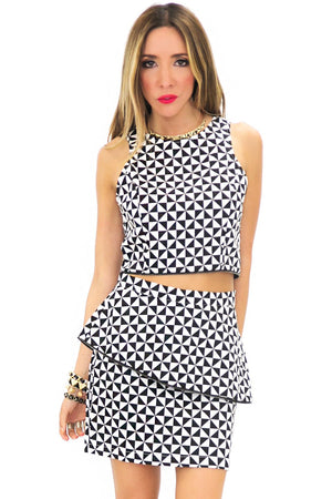 NATHAN GEOMETRIC PRINT TOP - Haute & Rebellious