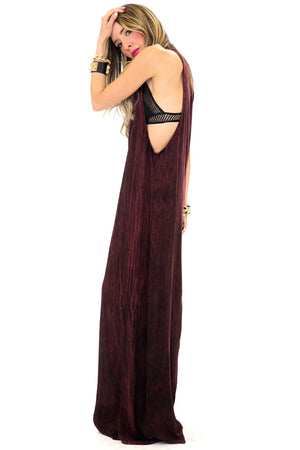 MOHICA MINERAL WASH MAXI DRESS - Haute & Rebellious