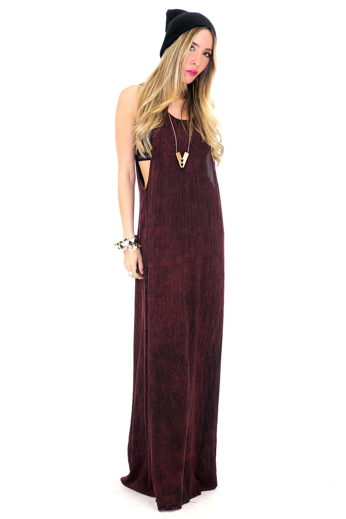 MOHICA MINERAL WASH MAXI DRESS