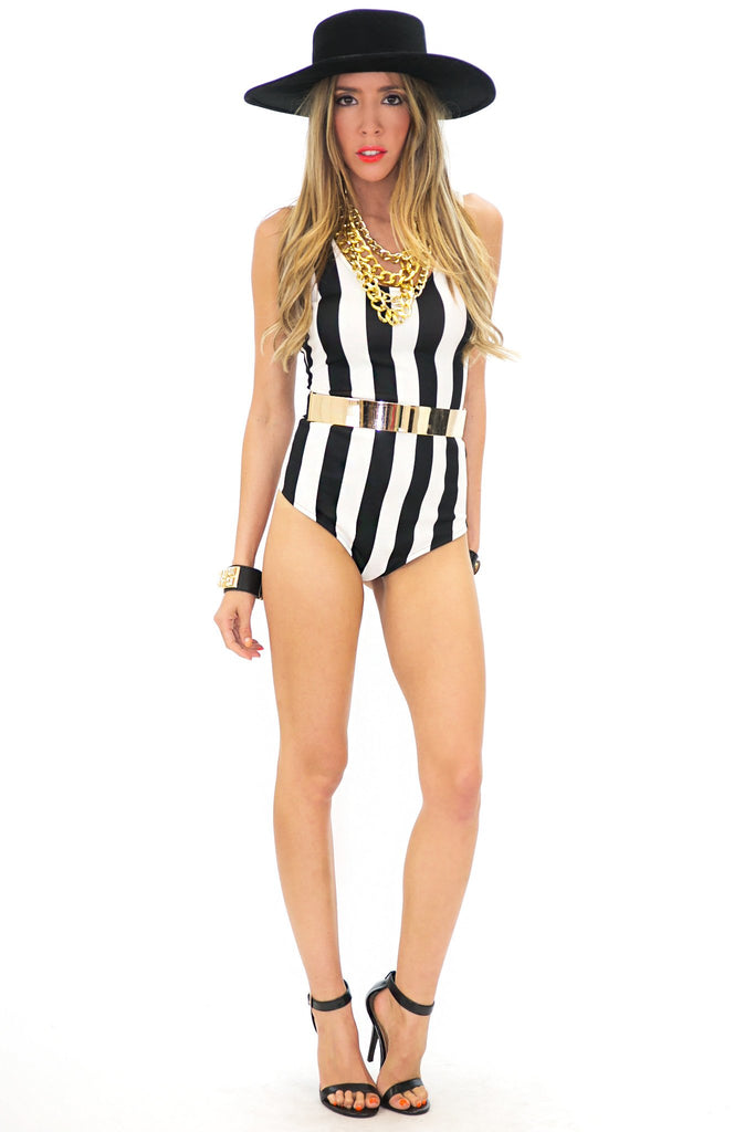 A-LA-COCO WIDE STRIPE BODYSUIT