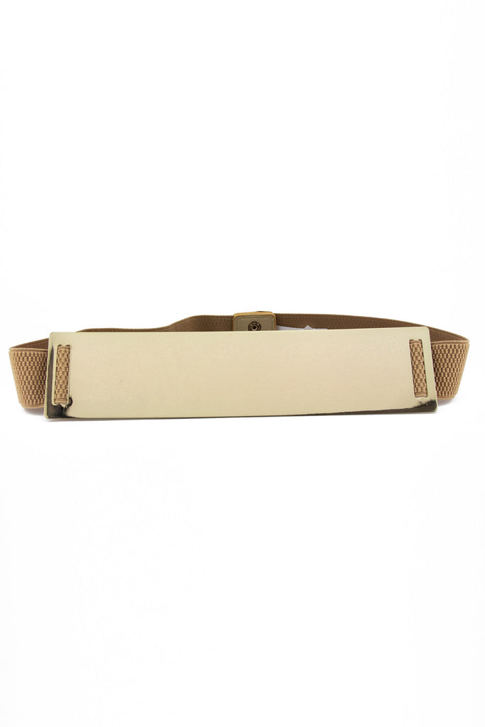 OVERSIZE GOLD PLATED BELT - Cream