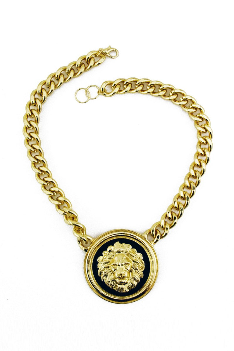 GOLD CHAIN LION PENDENT - Haute & Rebellious