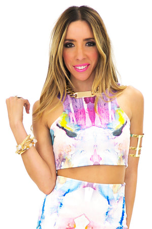 WATERCOLOR CROP TOP - Haute & Rebellious