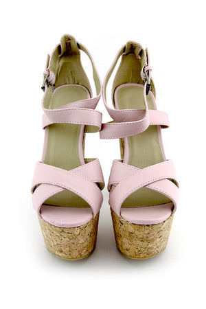STRAPPY PLATFORMS - Pink - Haute & Rebellious