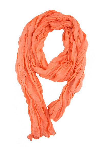 NEON RUFFLE SCARF - Orange