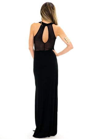 LONDON MESH DETAIL MAXI - Black - Haute & Rebellious
