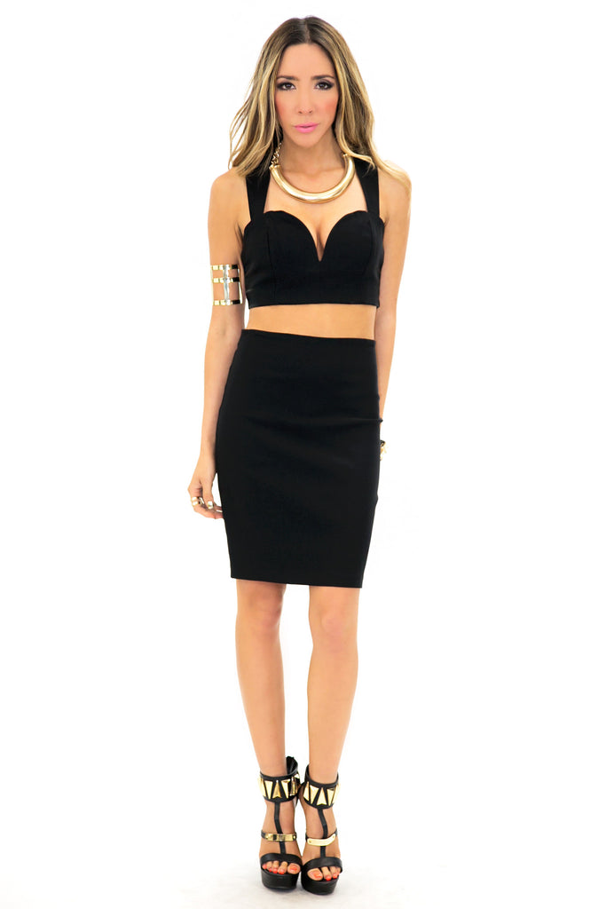 ZENA CROP TOP - Black