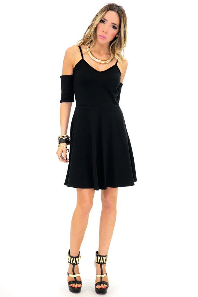 SHAY CUTOUT SHOULDER DRESS