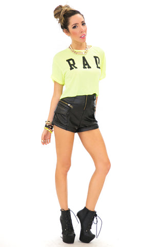 R A D NEON TOP - Yellow - Haute & Rebellious