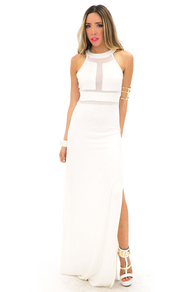 LONDON MESH DETAIL MAXI - Off White