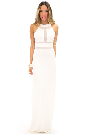 LONDON MESH DETAIL MAXI - Off White - Haute & Rebellious