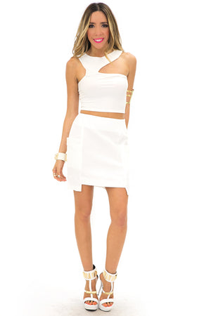RAFA OPEN BACK CROP TOP - Off White - Haute & Rebellious