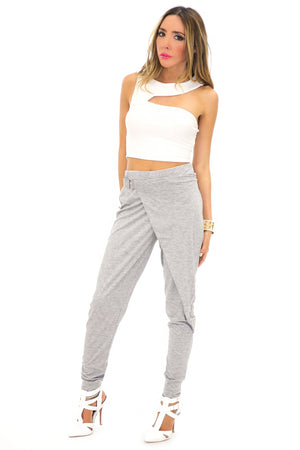 MARY JANE HAREM PANTS - Heather Grey - Haute & Rebellious