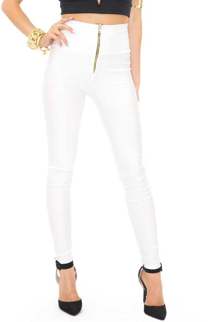 LORIN HIGH WAISTED LEGGINGS - White
