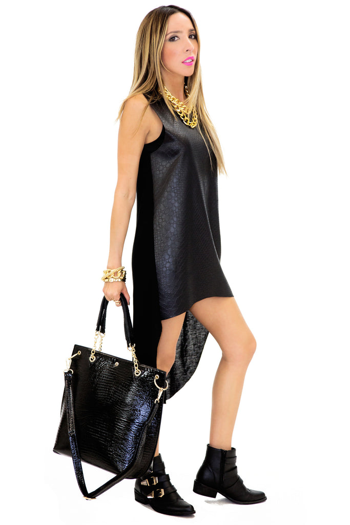 RAYFOR VEGAN LEATHER TUNIC