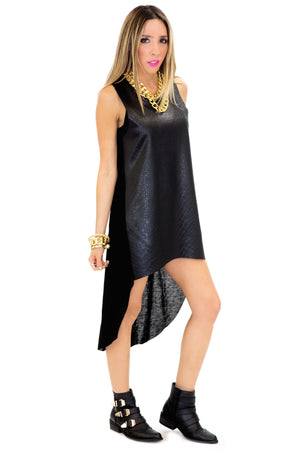 RAYFOR VEGAN LEATHER TUNIC - Haute & Rebellious