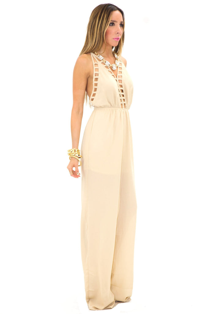 HALTER CROSS BACK JUMPSUIT