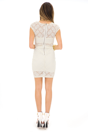 LEIA LACE DETAIL BODYCON DRESS - Haute & Rebellious