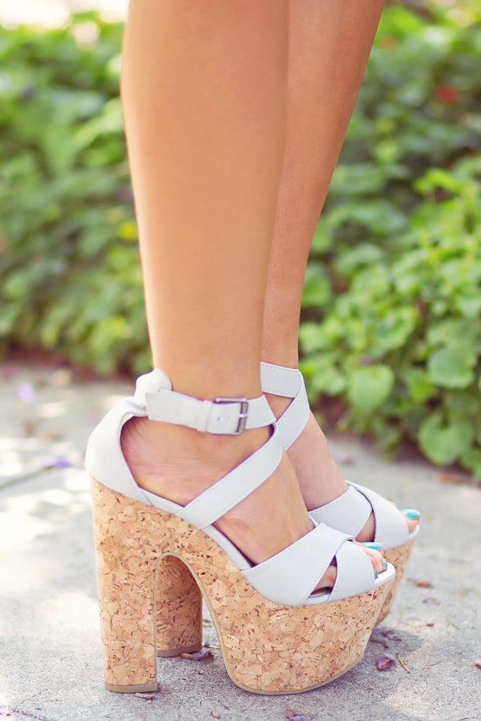 STRAPPY PLATFORMS - Grey
