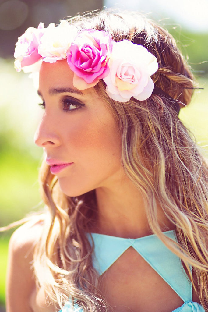 FLORAL HEADPIECE - Pink - Haute & Rebellious