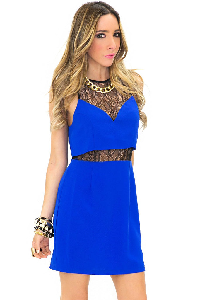 ALEXIS CONTRAST LACE DRESS