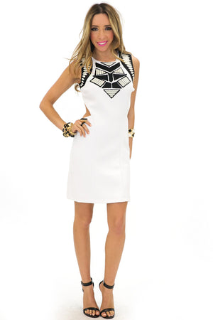NAOMI CUTOUT TRIBAL DRESS - Haute & Rebellious