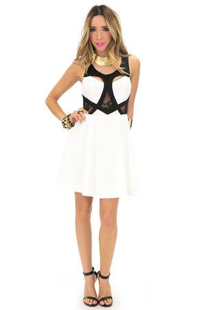 KILEY MESH CONTRAST DRESS - Haute & Rebellious