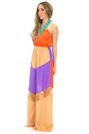 MIA COLOR BLOCK MAXI DRESS - Haute & Rebellious