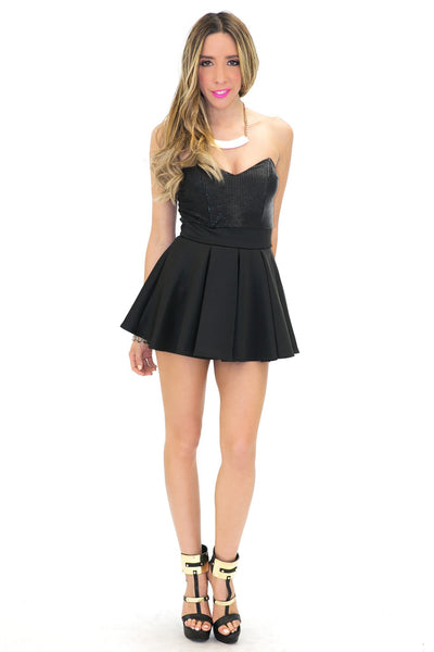 ADDISON PEPLUM RUFFLE MINI DRESS - Haute & Rebellious
