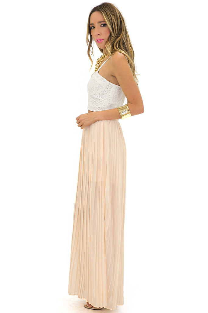 BAILEY PLEATED LONG SKIRT