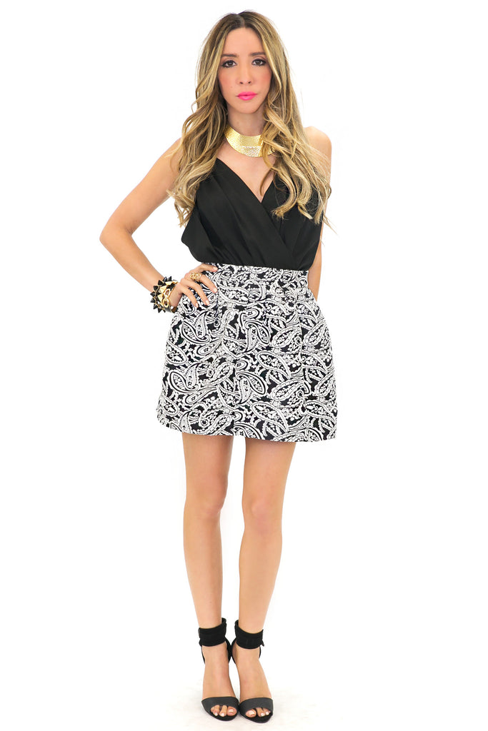 PAISLEY PRINT FULL SKIRT - Haute & Rebellious