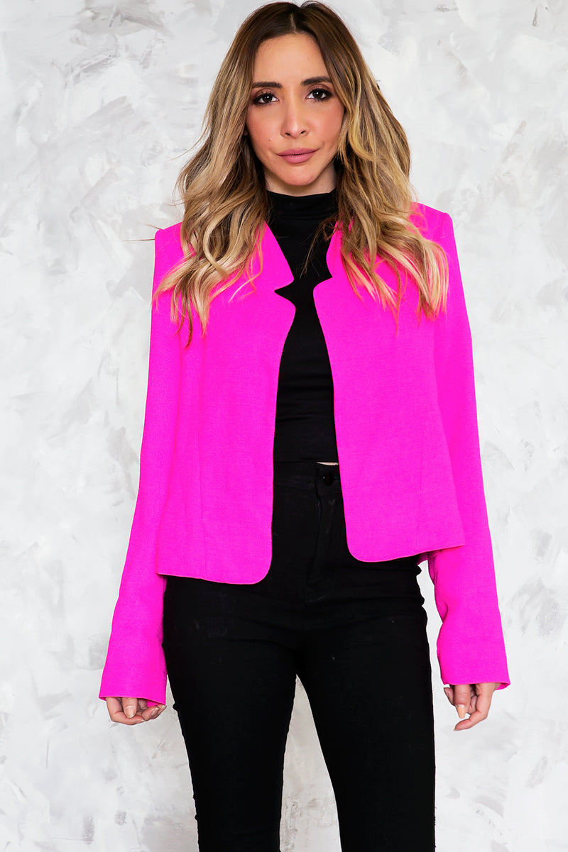 Neon Crop Blazer /// Only 1-S Left ///