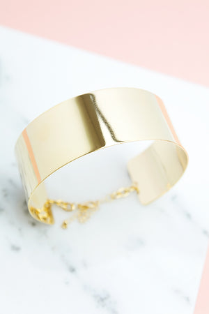 Thick Gold Plated Choker - Haute & Rebellious