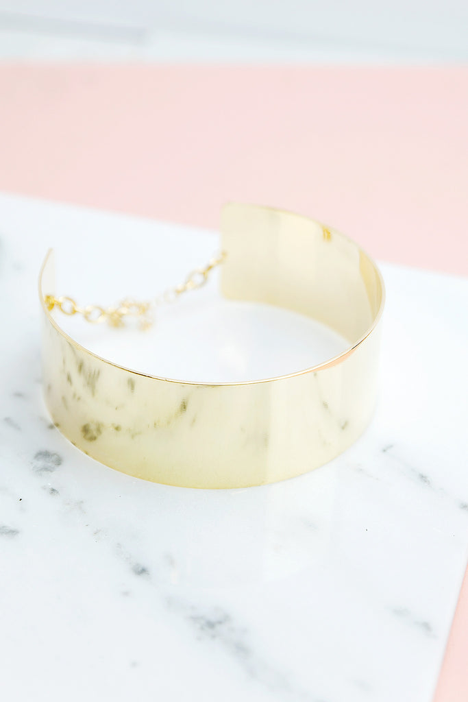 Thick Gold Plated Choker
