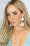 Stone Fringe Earrings - Ivory - Haute & Rebellious