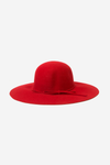 Fedora Wool Hat - Red