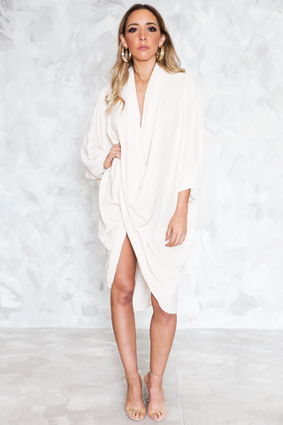 BERIN ONE SHOULDER MAXI - White
