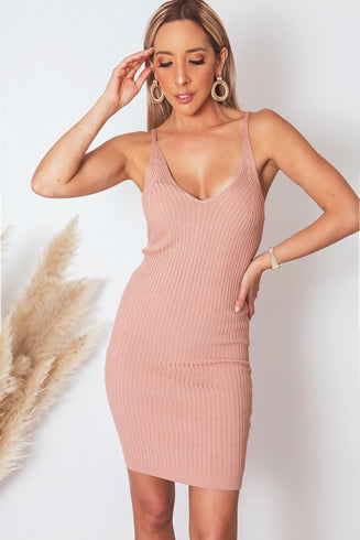 Ribbed Body-Con Dress