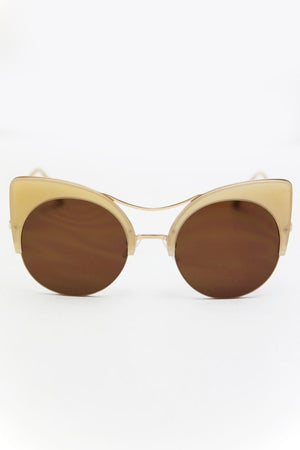 Got Me Moving Sunglasses - Nude - Haute & Rebellious