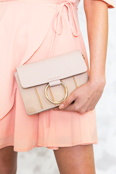 Small Cross-Body Bag - Nude